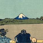 Contact Form 7 Logo - Japanese Painting with People and Mountain